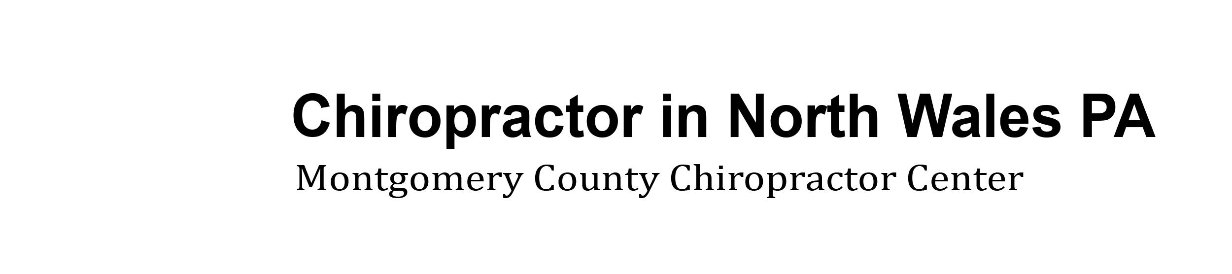 Montgomery County Chiropractor Center